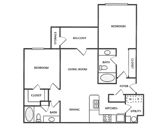 2 Bedrooms 2 Bathrooms Apartment for rent at The Legends At Indian Springs in Louisville, KY