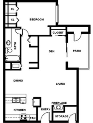 1 Bedroom 1 Bathroom Apartment for rent at Alamo Hillside in San Antonio, TX