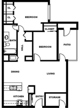 2 Bedrooms 1 Bathroom Apartment for rent at Alamo Hillside in San Antonio, TX