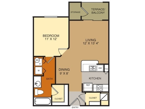 1 Bedroom 1 Bathroom Apartment for rent at Artessa At Quarry Village in San Antonio, TX