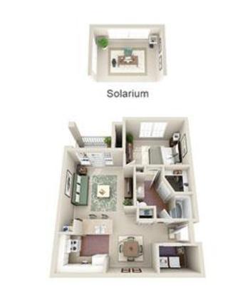 1 Bedroom 1 Bathroom Apartment for rent at Avaya Stone Canyon in San Antonio, TX