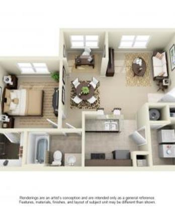 1 Bedroom 1 Bathroom Apartment for rent at Avana At The Rim in San Antonio, TX