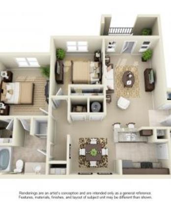 2 Bedrooms 2 Bathrooms Apartment for rent at Avana At The Rim in San Antonio, TX