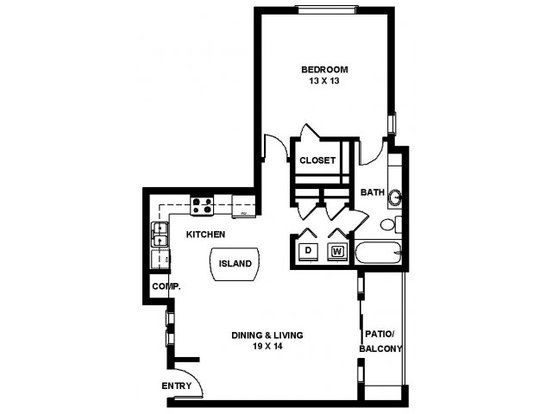 1 Bedroom 1 Bathroom Apartment for rent at Panther Springs in San Antonio, TX