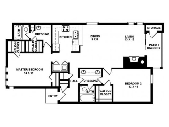 2 Bedrooms 2 Bathrooms Apartment for rent at Panther Springs in San Antonio, TX