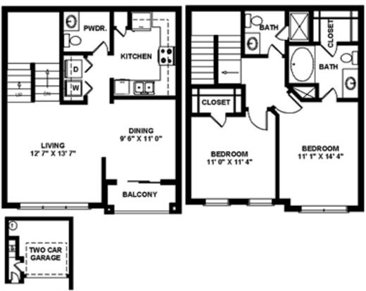 2 Bedrooms 3 Bathrooms Apartment for rent at The Quarry in San Antonio, TX