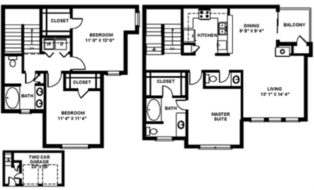 3 Bedrooms 3 Bathrooms Apartment for rent at The Quarry in San Antonio, TX