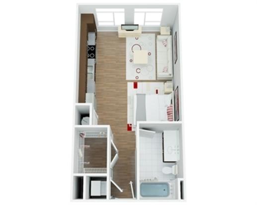 Studio 1 Bathroom Apartment for rent at River House in San Antonio, TX