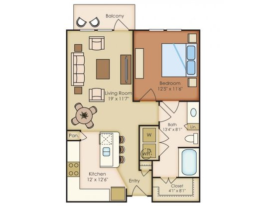 1 Bedroom 1 Bathroom Apartment for rent at Residences At La Cantera in San Antonio, TX