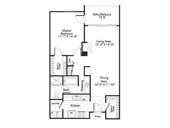 1 Bedroom 1 Bathroom Apartment for rent at Alta Springs in Denver, CO