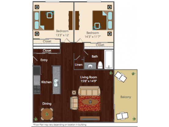 2 Bedrooms 1 Bathroom Apartment for rent at The Edge Apartments in Denver, CO