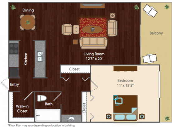 1 Bedroom 1 Bathroom Apartment for rent at Rise At Cherry Creek in Denver, CO