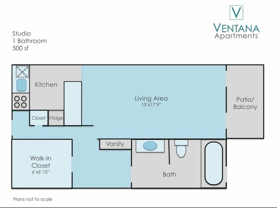 Studio 1 Bathroom Apartment for rent at Ventana Apartments in Denver, CO