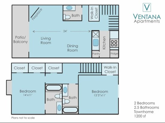 2 Bedrooms 3 Bathrooms Apartment for rent at Ventana Apartments in Denver, CO