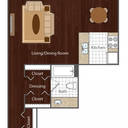 Studio 1 Bathroom Apartment for rent at Vue At Cherry Creek in Denver, CO