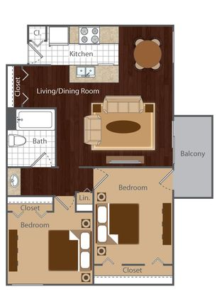2 Bedrooms 1 Bathroom Apartment for rent at Vue At Cherry Creek in Denver, CO