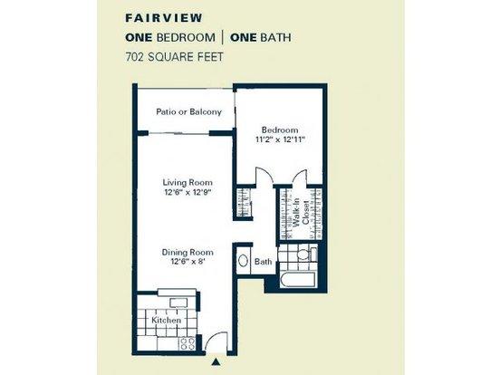 1 Bedroom 1 Bathroom Apartment for rent at Woodstream Village in Denver, CO