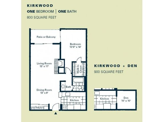 1 Bedroom 1 Bathroom Apartment for rent at Woodstream Village in Denver, CO