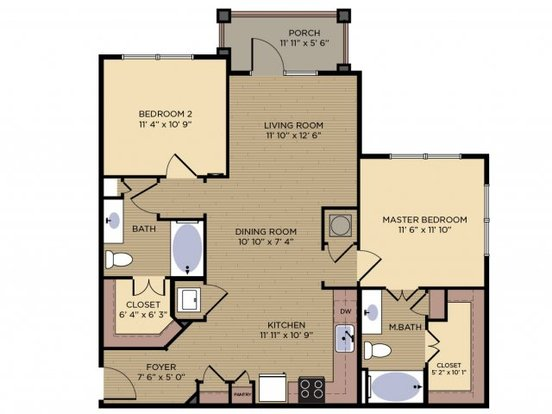 2 Bedrooms 2 Bathrooms Apartment for rent at Crescent At Alexander Village in Charlotte, NC