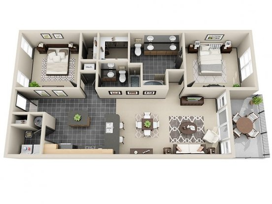 2 Bedrooms 2 Bathrooms Apartment for rent at Mosaic South End in Charlotte, NC