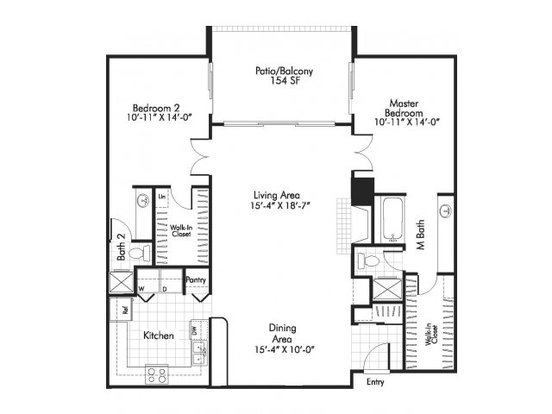2 Bedrooms 2 Bathrooms Apartment for rent at Alta Springs in Denver, CO
