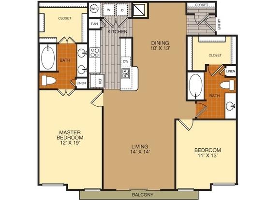 2 Bedrooms 2 Bathrooms Apartment for rent at Artessa At Quarry Village in San Antonio, TX