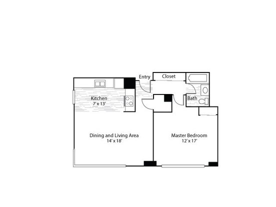 1 Bedroom 1 Bathroom Apartment for rent at Mezzo Apartment Homes in Denver, CO