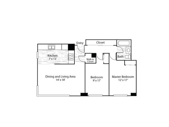 2 Bedrooms 1 Bathroom Apartment for rent at Mezzo Apartment Homes in Denver, CO