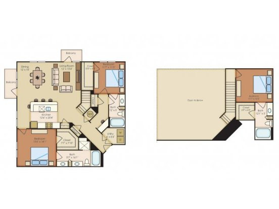 3 Bedrooms 3 Bathrooms Apartment for rent at Residences At La Cantera in San Antonio, TX