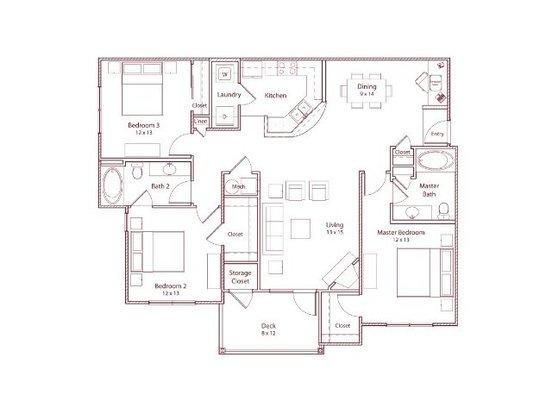 3 Bedrooms 2 Bathrooms Apartment for rent at Stonegate Apartments in Birmingham, AL