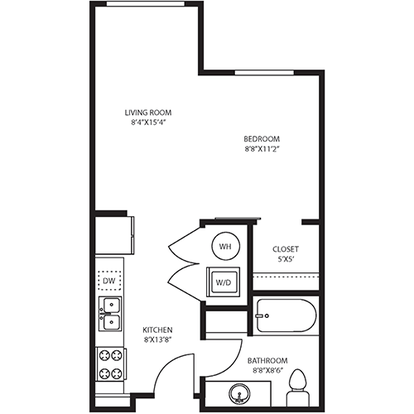 Studio 1 Bathroom Apartment for rent at The Douglas in Denver, CO