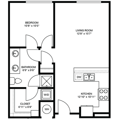 1 Bedroom 1 Bathroom Apartment for rent at The Douglas in Denver, CO