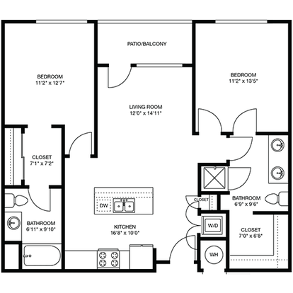 2 Bedrooms 2 Bathrooms Apartment for rent at The Douglas in Denver, CO