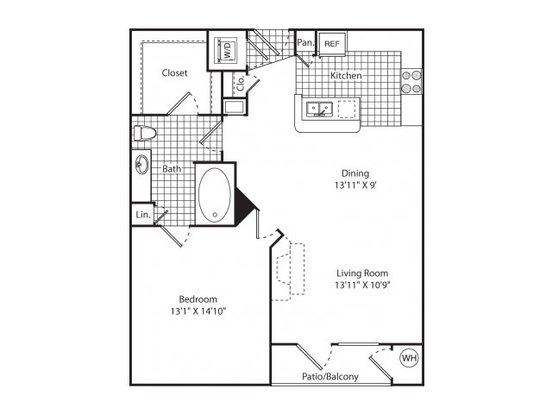 1 Bedroom 1 Bathroom Apartment for rent at The Metro in Denver, CO