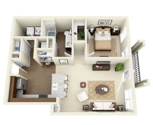 1 Bedroom 1 Bathroom Apartment for rent at Whitehall Parc in Charlotte, N