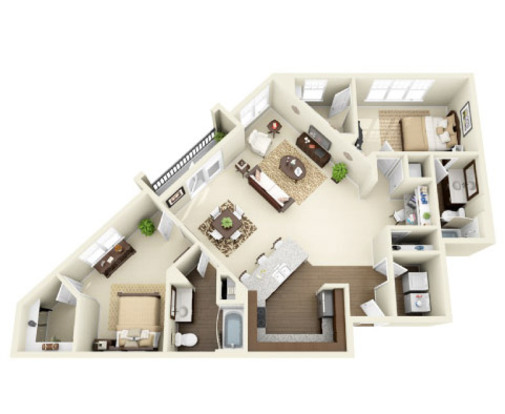 2 Bedrooms 2 Bathrooms Apartment for rent at Whitehall Parc in Charlotte, N
