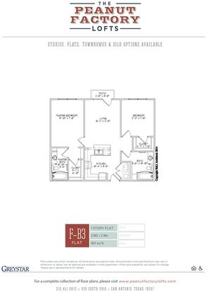 2 Bedrooms 2 Bathrooms Apartment for rent at Peanut Factory Lofts in San Antonio, TX