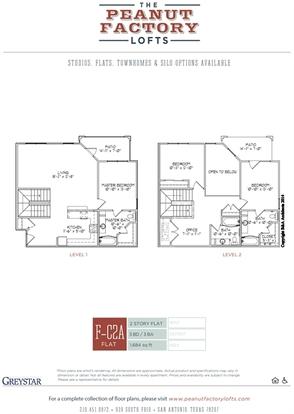 3 Bedrooms 3 Bathrooms Apartment for rent at Peanut Factory Lofts in San Antonio, TX