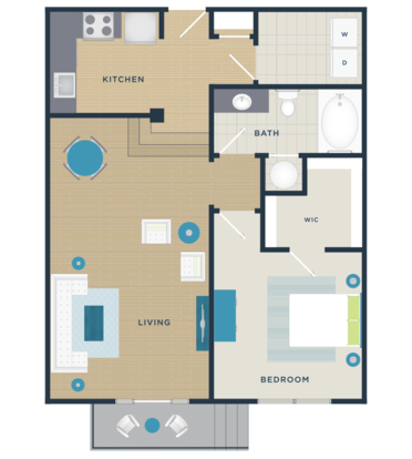 1 Bedroom 1 Bathroom Apartment for rent at The Devon Seven12 in Raleigh, NC