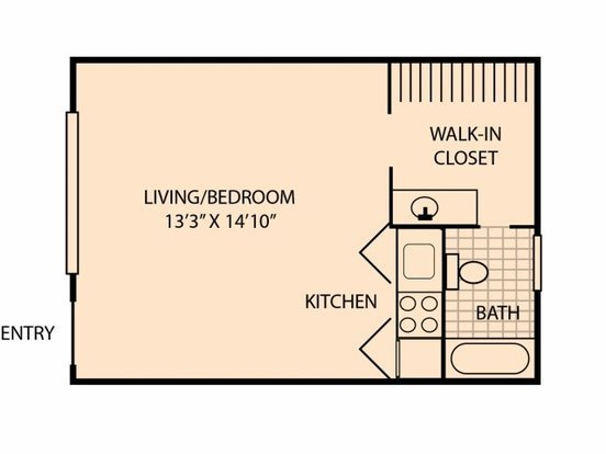 Studio 1 Bathroom Apartment for rent at Highland Terrace in Knoxville, TN