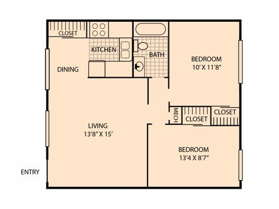 2 Bedrooms 1 Bathroom Apartment for rent at Highland Terrace in Knoxville, TN