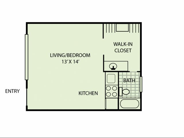Studio 1 Bathroom Apartment for rent at Windsor Court in Knoxville, TN