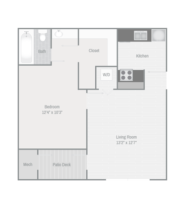 1 Bedroom 1 Bathroom Apartment for rent at The Grove At Trinity Pointe in Cordova, TN