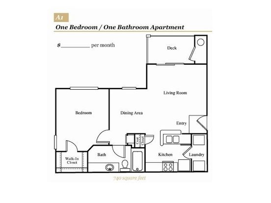 1 Bedroom 1 Bathroom Apartment for rent at Grove At Deane Hill in Knoxville, TN