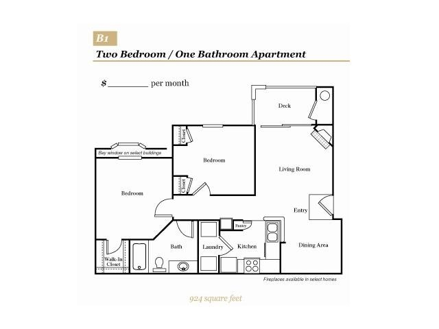 2 Bedrooms 1 Bathroom Apartment for rent at Grove At Deane Hill in Knoxville, TN