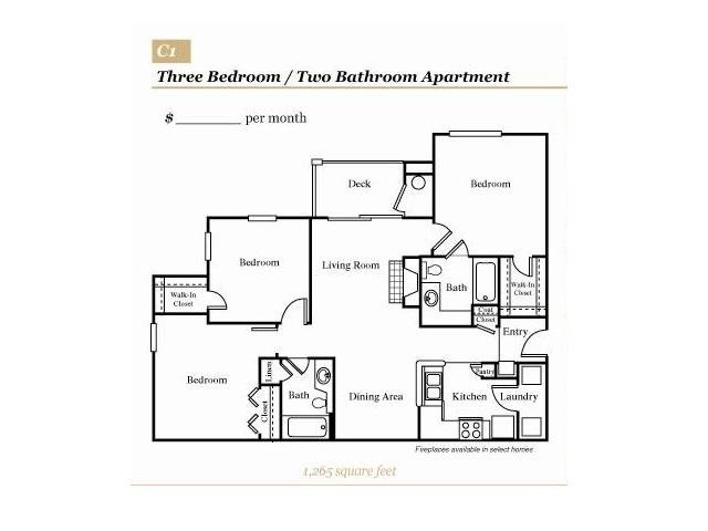 3 Bedrooms 2 Bathrooms Apartment for rent at Grove At Deane Hill in Knoxville, TN