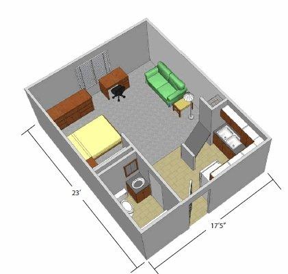 Studio 1 Bathroom Apartment for rent at The Village in Fairborn, OH