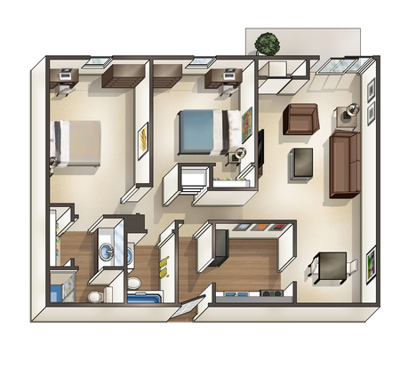 2 Bedrooms 2 Bathrooms Apartment for rent at University Hills in Toledo, OH