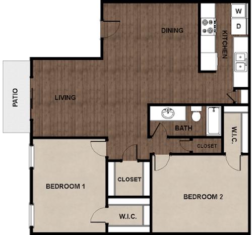 2 Bedrooms 1 Bathroom Apartment for rent at Star Club in San Antonio, TX