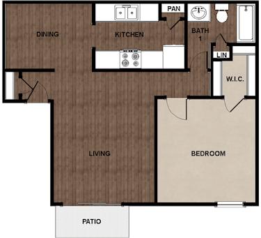1 Bedroom 1 Bathroom Apartment for rent at Star Club in San Antonio, TX